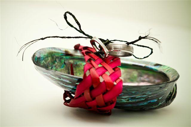 Paua shell ring pillow.  www.flaxation.co.nz
