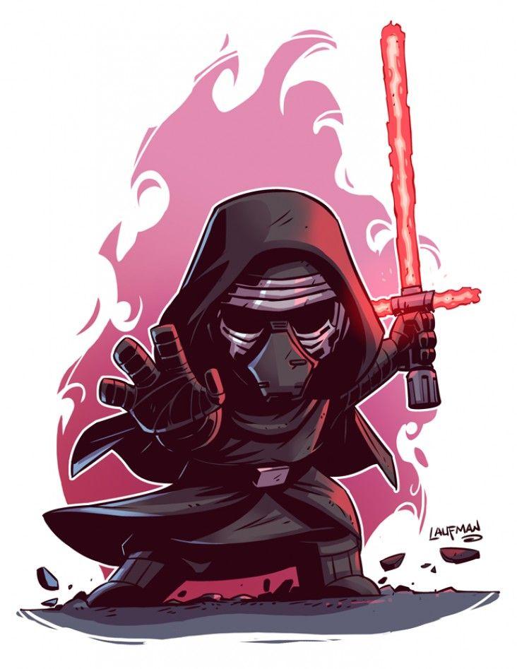 Star Wars Le Réveil De La Force : Dessiner Kylo Ren, Rey, Finn et Poe Dameron en chibi