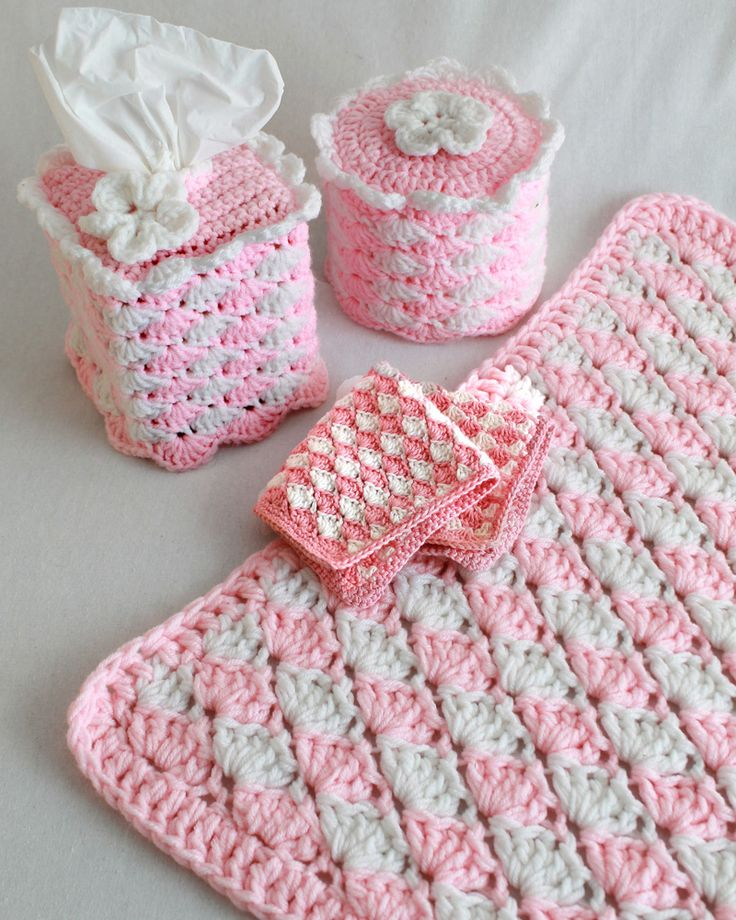 Picture of Quick and Easy Shell Bath Set Crochet Pattern. 414 best Bathroom Crochet images on Pinterest   Free crochet