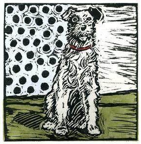 #linocut #illustration #dog