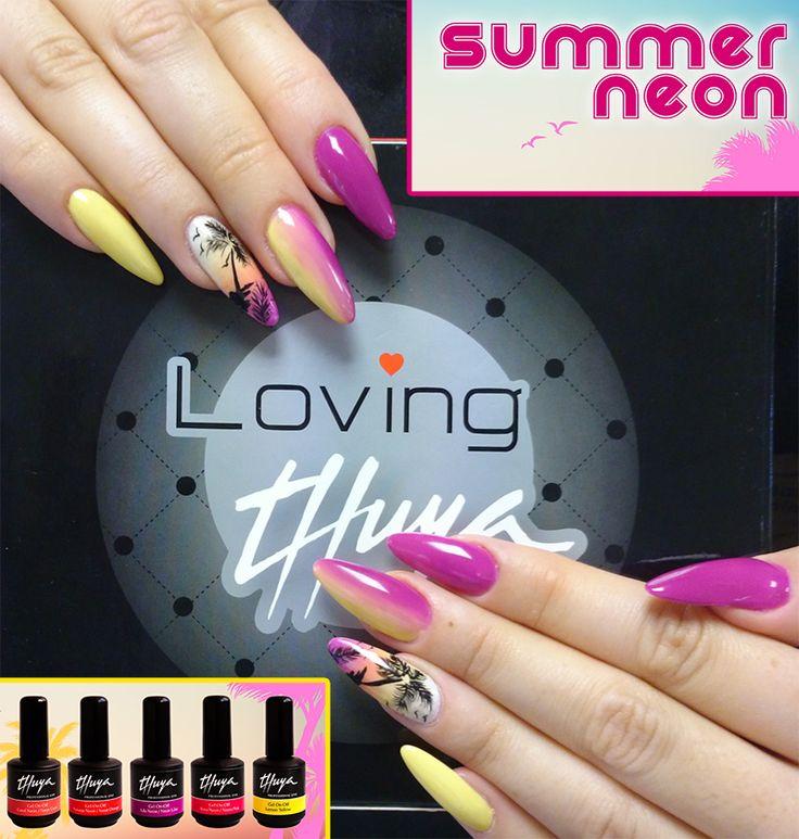 Tu nailart con colores neon,  ideal para el verano http://goo.gl/aBBdhm