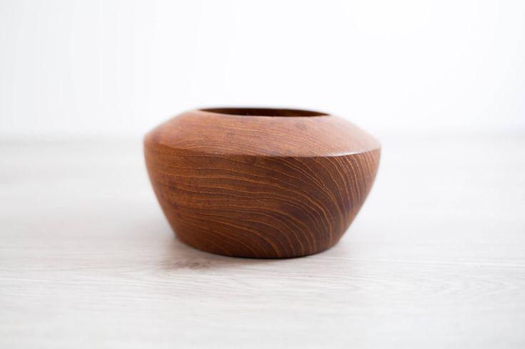 Teak Wood Bowl / Vintage Exotic Solid Wood Food Safe Serving Appetizer Dish Platter / Hand Carved Hardwood Space Age Mid Century Planter by secondvoyagevintage on Etsy https://www.etsy.com/ca/listing/543181109/teak-wood-bowl-vintage-exotic-solid-wood