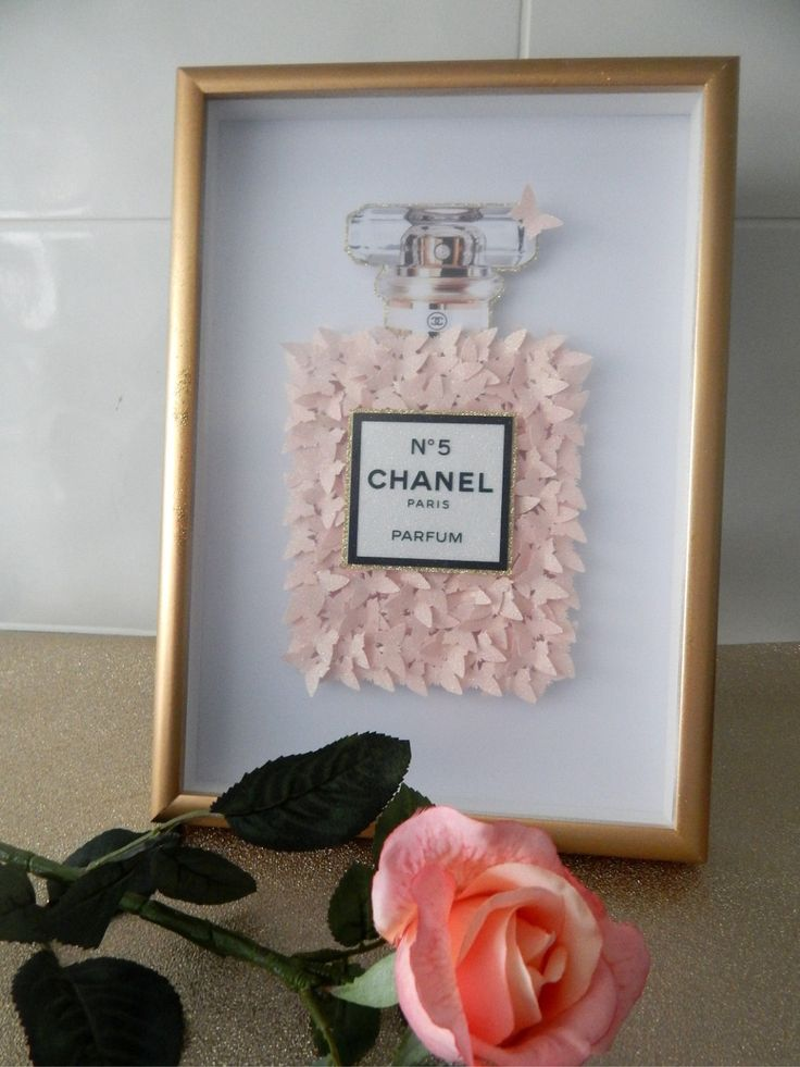 Chanel 3d picture baby pink glitter 3d picture box framed