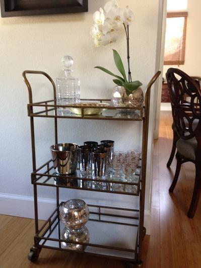 best 25 rolling bar cart ideas on pinterest beverage cart serving cart and barchart coffee. Black Bedroom Furniture Sets. Home Design Ideas