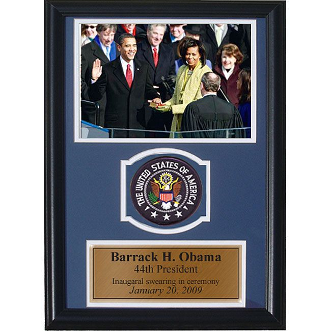 Encore Select Presidential Inauguration 12x18 Framed Print with Patch