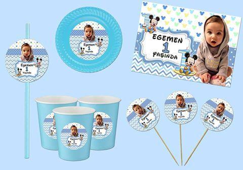Baby mickey ile 1 Yaş doğum günlerinize renk katmaya ne dersiniz? Size özel hazırlayacağımız ürünlerimizle, yüzünüzü güldüren bir doğum günü partisi gerçekleştirmek için; http://partidenizi.com/kategori/kisiye-ozel-erkek/baby-mickey.aspx adresine tıklayın. Whatsapp sipariş hattımız 05554 442 82 12