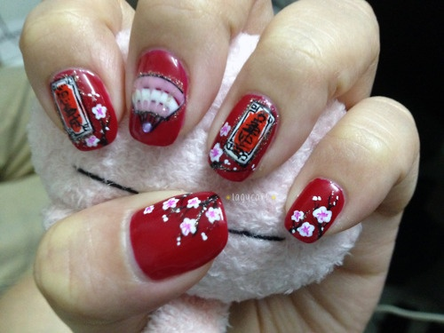 33 best chinese new year nail art images on pinterest new years chinese new year nails fashion pinsland https prinsesfo Choice Image