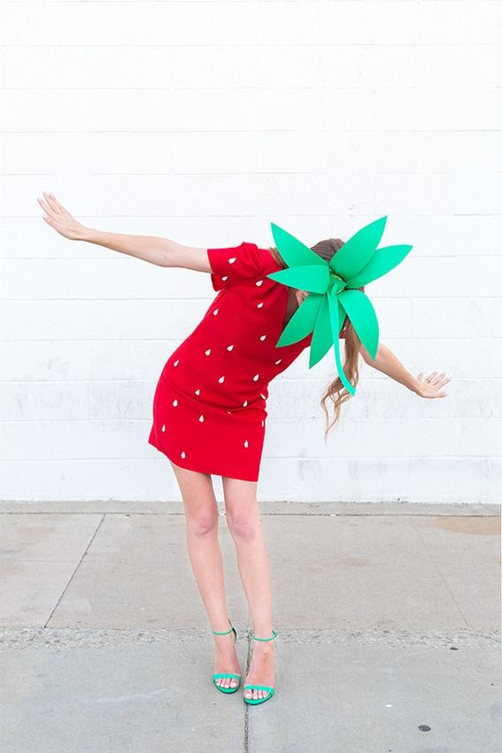 Strawberry costume- 15 Modest and Fun DIY Halloween Cost