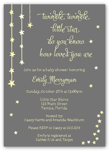 twinkle stars yellow baby shower invitation in 2018 babyshower