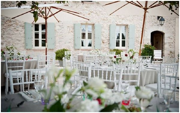 Rustic farmhouse wedding venue in Provence via French Wedding Style
