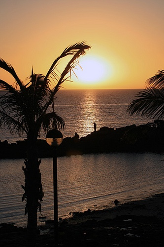 Lanzarote  sunset, Fariones Playa......