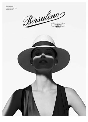 The Essentialist - Fashion Advertising Updated Daily: Borsalino Ad Campaign Spring/Summer 2014