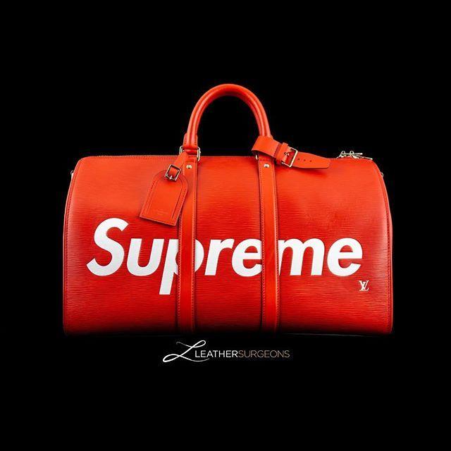 8c0730a7cb6 👜 Louis Vuitton x Supreme Keepall Bandouliere Duffle Bag 👜 We've ...