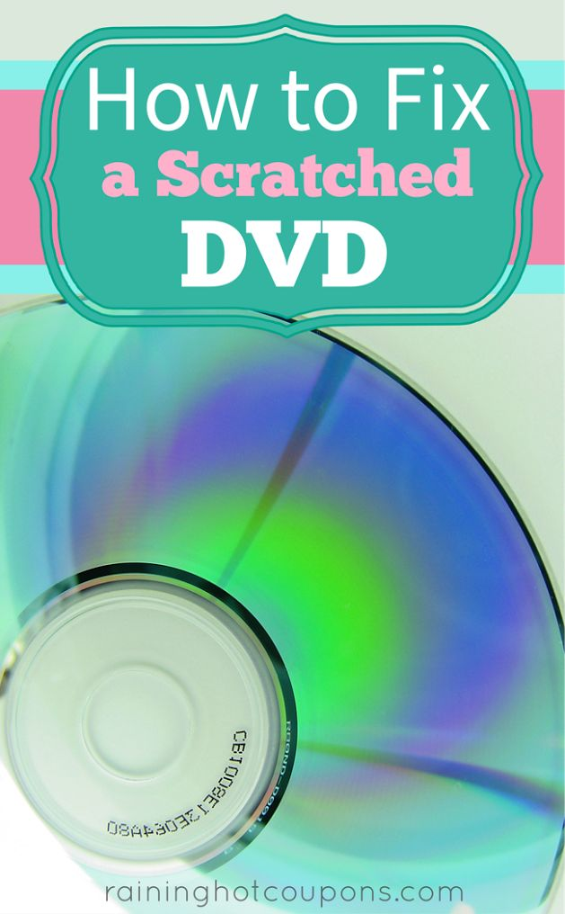 How To Fix A Scratched DVD. Learned about this tip quite a few years ago, but thought I'd pass it along!