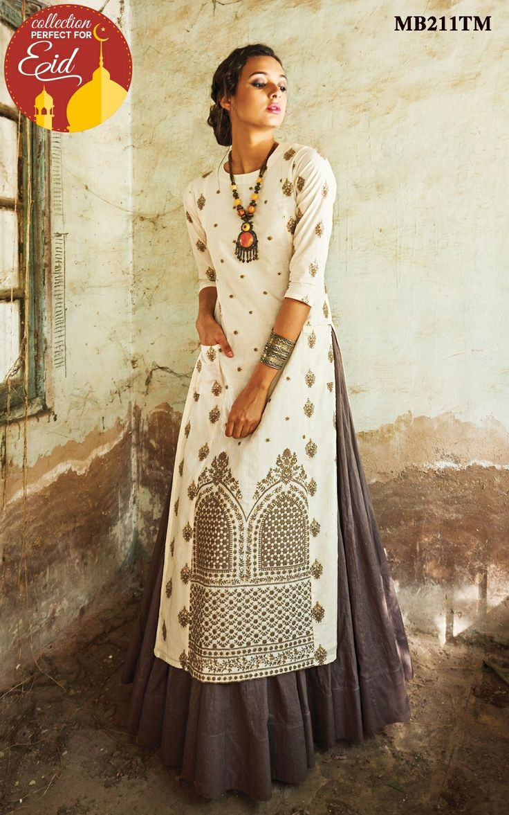 Royalty and elegance come together in this Ivory and grey lehenga set by Meena Bazaar.This exquisite piece crafted with exclusive cotton, an intricately designed mughal inspired embroidered kurta with pocket.It is paired with grey lehenga with crushed cotton dupatta, this exclusive white and grey lehenga set is designed with inimitable elegance.Color may slightly be different from the actual item due to photographic lighting sources or the monitor's settings.