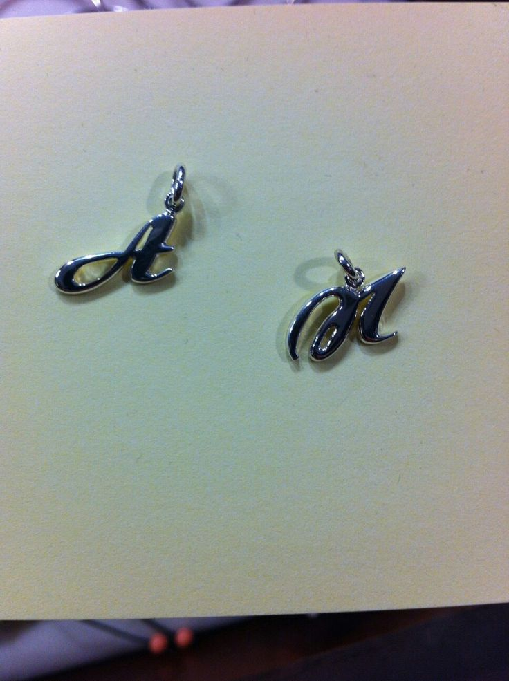 Handmade silver letters.
