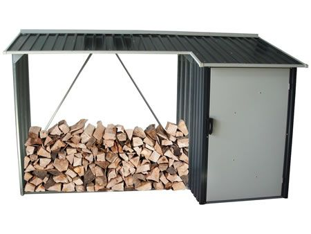 ***DuraMax 8x3 Woodstore Combo Steel Shed Kit - Gray
