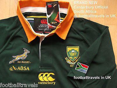 S M L XL XXL 3XL 4XL South Africa Springboks Canterbury Rugby Shirt Jersey New | eBay
