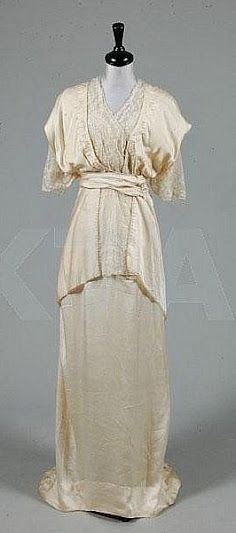 French Wedding Dress - c. 1913 - by House of Worth - @~ Watsonette