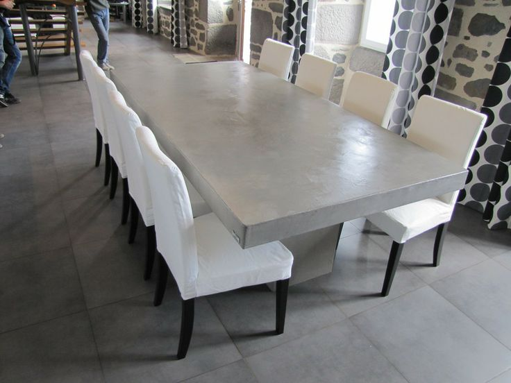 Tables on pinterest for Table effet beton cire