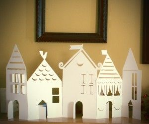 paper village silhouette - to match the small house decoration