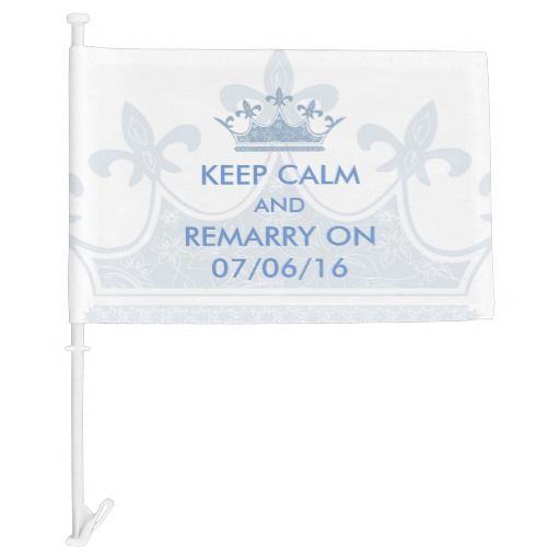 Wedding Vows Renewal Keep Calm Personalized Car Flag