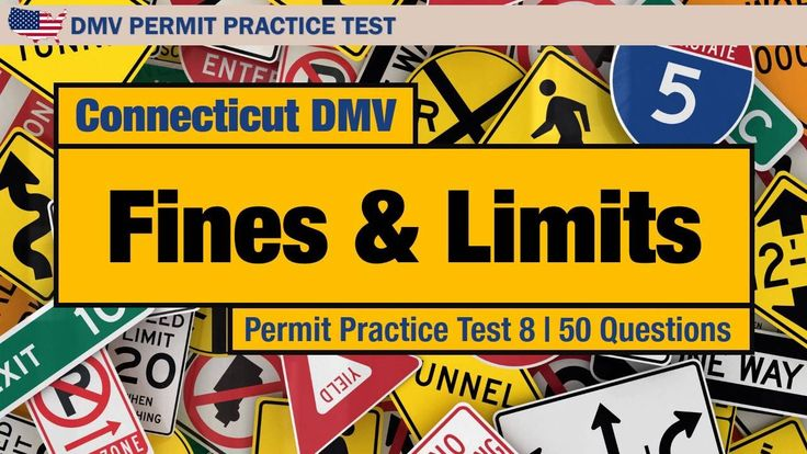 Connecticut DMV Fines and Limits Permit Practice Test 8