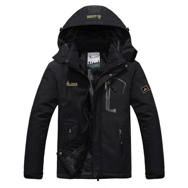 2017 남성 겨울 내부 양털 방수 재킷 야외 스포츠 따뜻한 브랜드 코트 하이킹 캠핑 트레킹 스키 남성 재킷 VA063