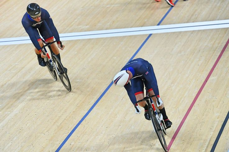Great Britain were guaranteed another gold medal when team-mates Callum Skinner and Jason Kenny qualified for the men's sprint final together (pic: Sirotti)