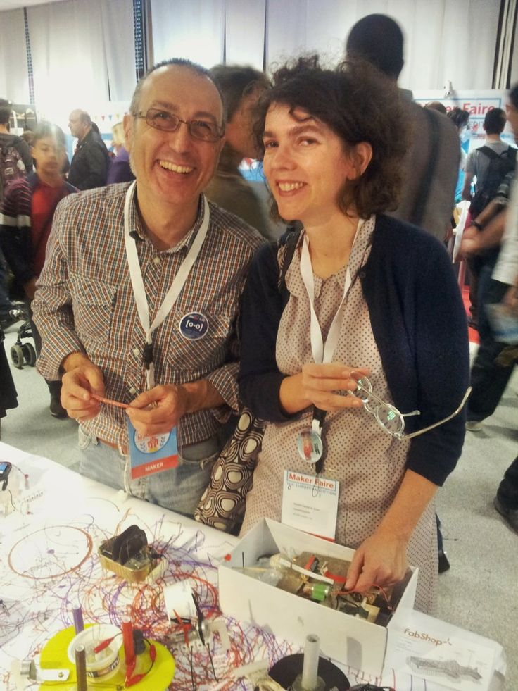 con/with Laurence Humier  #makerfairerome #tinkering