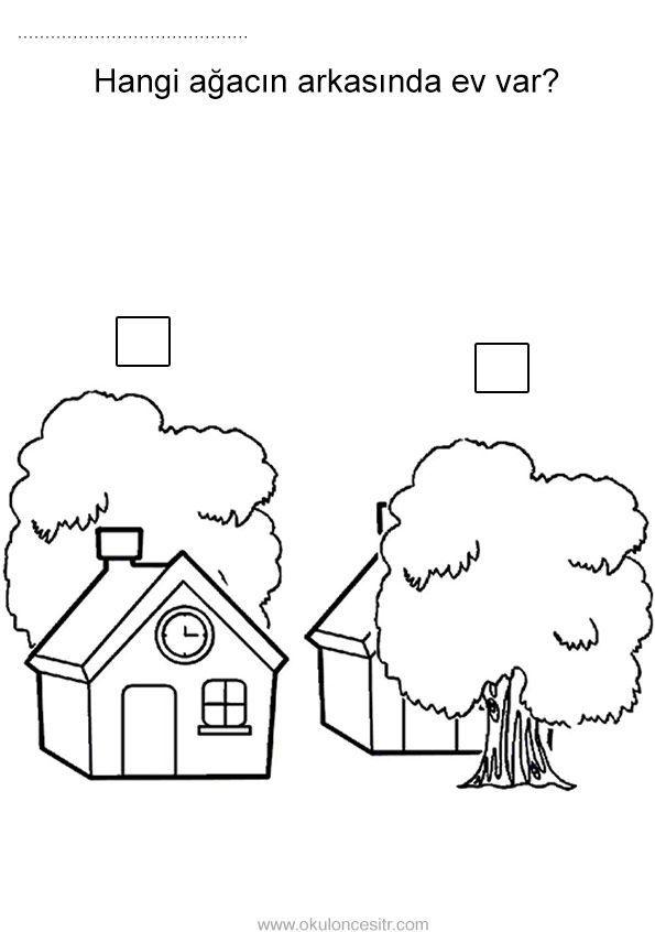 Onunde Arkasinda Calisma Sayfasi Verwirrend Opuestos Para Ninos Opuestos Preescolar Actividades De Lenguaje Preescolares