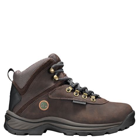 These waterproof hiking boots can take on any trail conditions. The Timberland White Ledge leather hikers feature rugged outdoor-tested style.