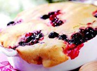 Sandra Lee shares a recipe!  Got 10 minutes? Make a bubbly, buttery, double-cherry cobbler—sweet!