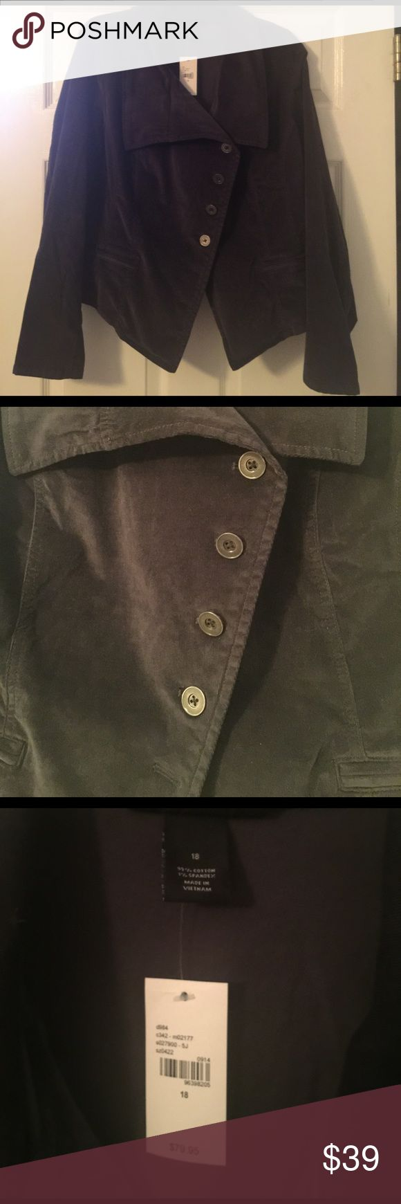 Lane Bryant Woman's Purple Blazer Size 18/20 Stretchy yet structured purple blazer with an asymmetrical button front. Lane Bryant Jackets & Coats Blazers