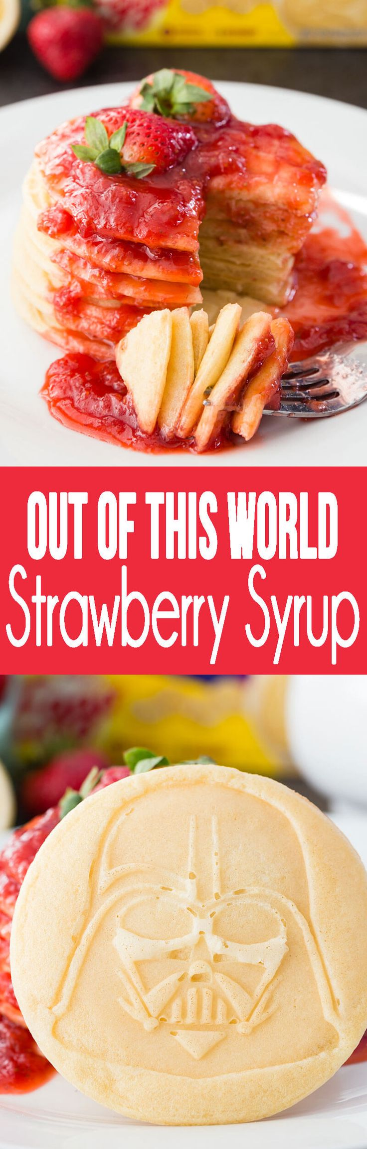 Strawberry Syrup is about to rock your breakfast world!#EggoStarWarsPancakes #ad