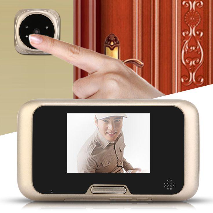 3.2 inch LCD Peephole Viewer Door Eye Doorbell Color HD Digital Camera 4 IR LED W/ Night Version 32ring tones Choosen Best Price