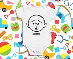 Funny Baby Grow Karl Pilkington by PaperDucksPrinting on Etsy