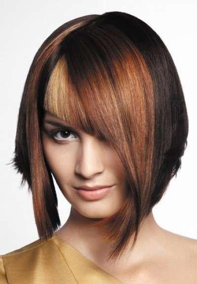 Tagli di capelli corti, nuove idee - Taglio medio scalato e asimmetrico
