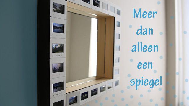 Oude foto's en dia's, ik ben daar gek op! De vergeten dia's van mijn opa heb ik gebruikt om een toffe spiegel van te maken. Ik heb mij wat laten inspireren op die boudoir-achtige Hollywood stijl uit de jaren '20. Vroeger hadden al die vrouwen van die spiegels met allemaal lichtjes rond en in plaats van die lichtjes heb ik dia's gebruikt, super tof!WAT HEB JE NODIG?