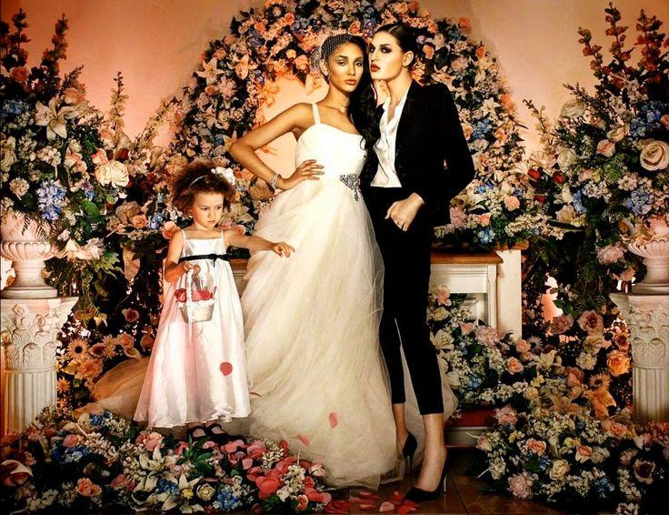 Кэнани Луз и Джиана Дэвис  - лесбийская свадьба