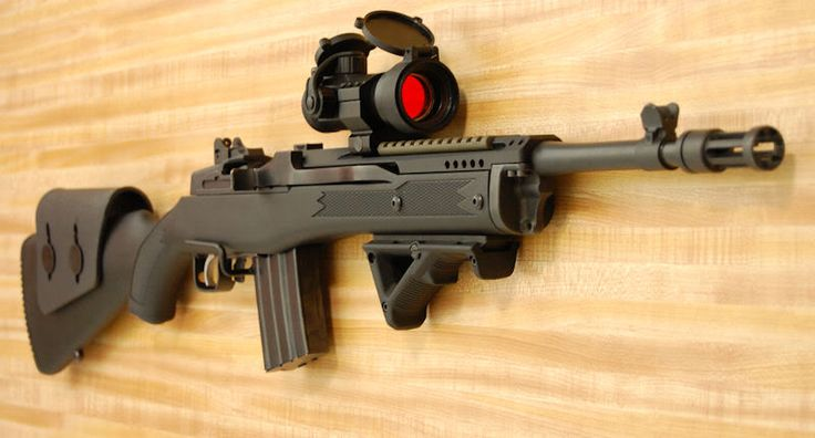 Ruger Mini-14  This might just be the perfect mid-range anti-zombie/raider rifle.