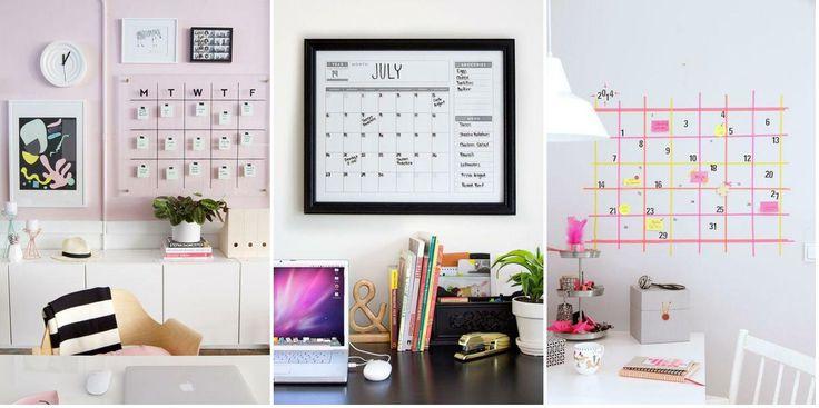 4 ideas de calendarios editables DIY