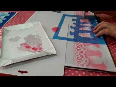 AULA 2 - COMO PINTAR FALSO BARRADO COM STENCIL - YouTube