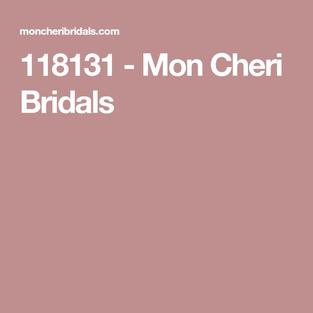 118131 - Mon Cheri Bridals