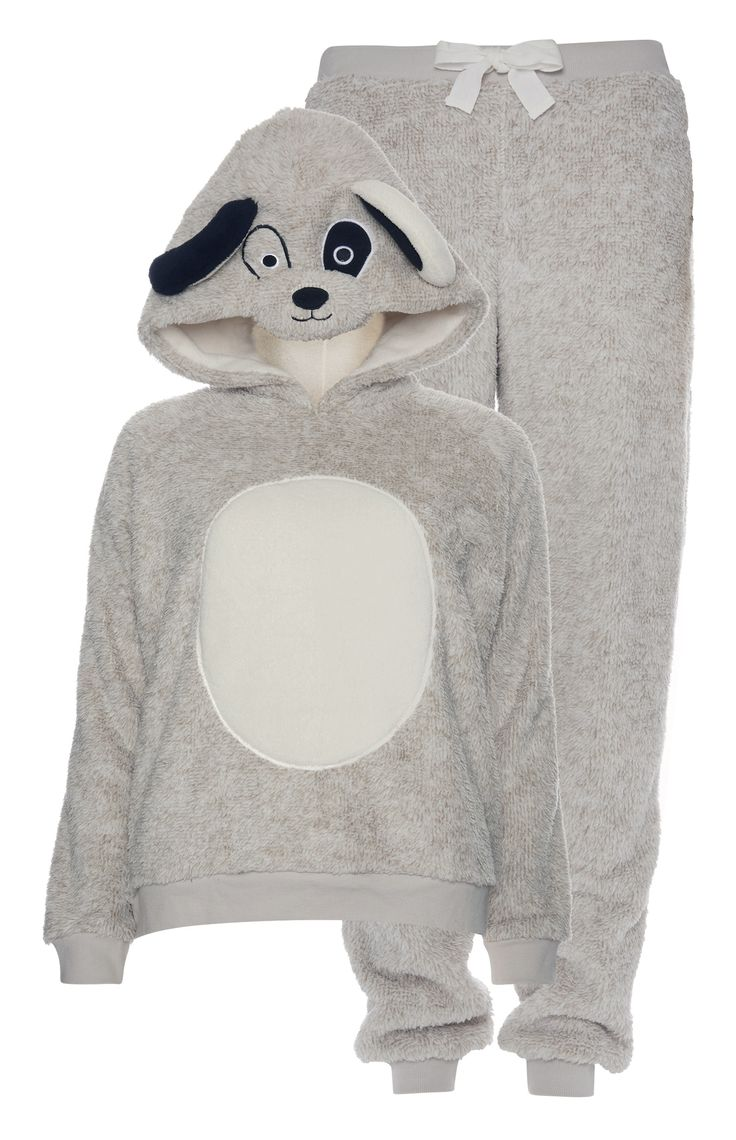 Primark - Novelty Dog Sherpa Pyjama Set