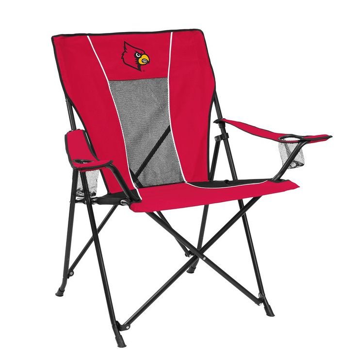 Outdoor Adult Logo Brand Louisville Cardinals Game Time Portable Folding Chair, Multicolor