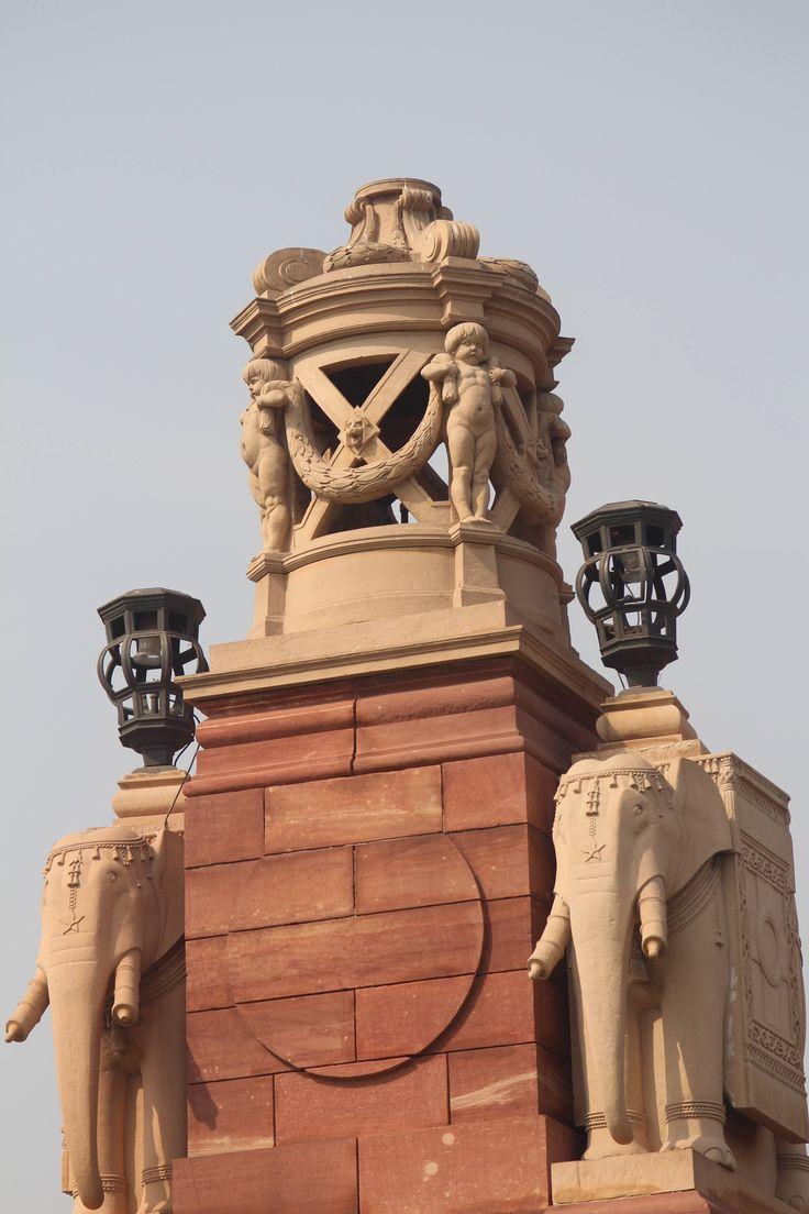 Gatepost of the Rashtrapati Bhavan. New Delhi, India.