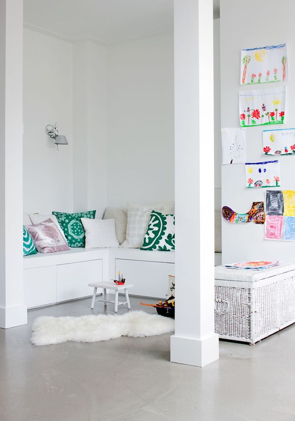 A WHITE FAMILY HOME WITH TOUCHES OF COLOR | THE STYLE FILES