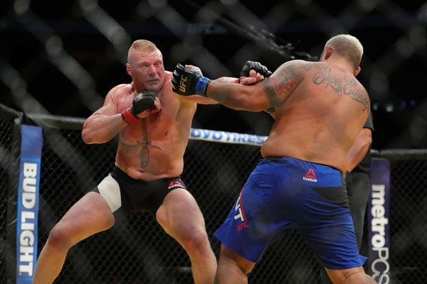 Brock Lesnar might be putting the WWE on hold and stepping back into the UFC octagon.