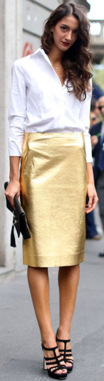 25  best ideas about Gold pencil skirt on Pinterest | Gold sequin ...